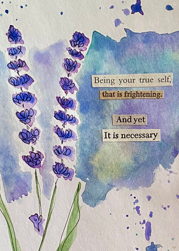 Your true self - Watercolor Floral Postcard - 4