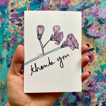 Load image into Gallery viewer, Thank you - floral thank you card