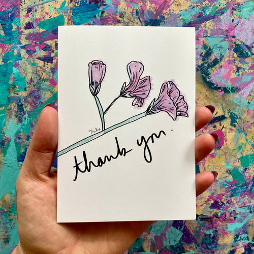 thank you - artistic thank you card