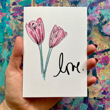 Load image into Gallery viewer, love - artistic greeting card