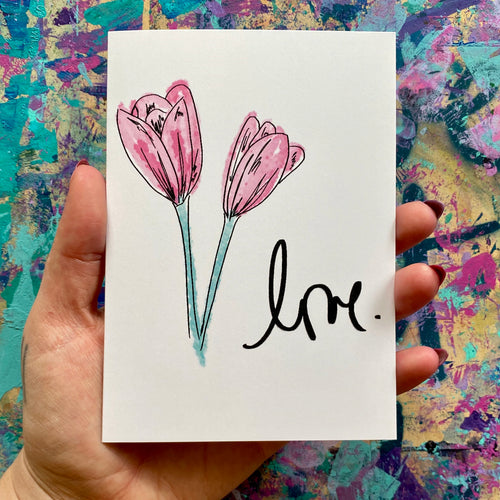 love - artistic greeting card