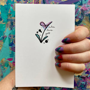 Thank you - floral thank you card