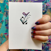 Load image into Gallery viewer, thank you for being you - floral thank you card