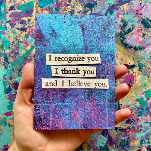 i thank you - supportive greeting card