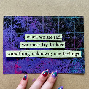 our feelings - postcard art print