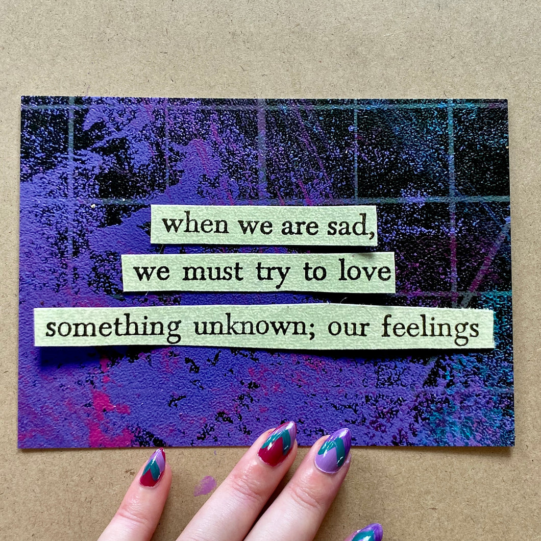 Our feelings - postcard art print - 4
