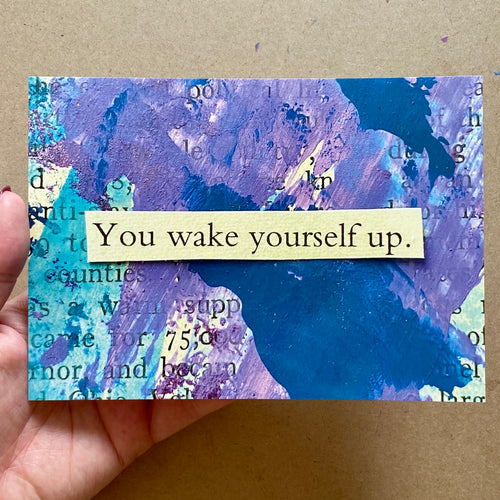 wake yourself up - postcard print