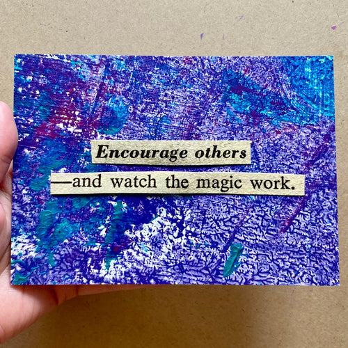 encourage others - postcard print - 5