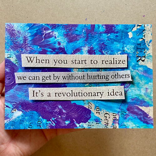it's a revolutionary idea - postcard print - 5