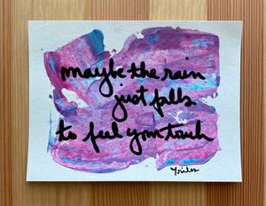 maybe the rain - paper painting - 6/6