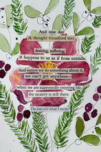 Load image into Gallery viewer, Mistletoe Series - Do you see what I mean? - Watercolor poem