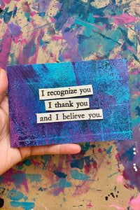 And I believe you - postcard print
