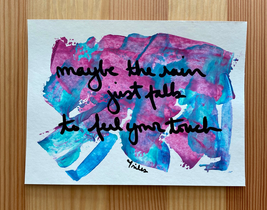 maybe the rain - paper painting - 4/6