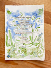 Load image into Gallery viewer, Snowdrop Series - Let's see - Watercolor poem
