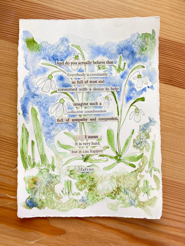 Snowdrop Series - Let's see - Watercolor poem