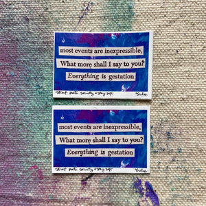 what shall I say? - mini stickers (set of two)