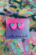 Load image into Gallery viewer, Conversation heart stud earrings