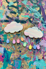 Load image into Gallery viewer, Custom cloud earrings