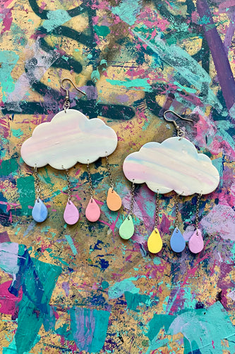 Custom cloud earrings