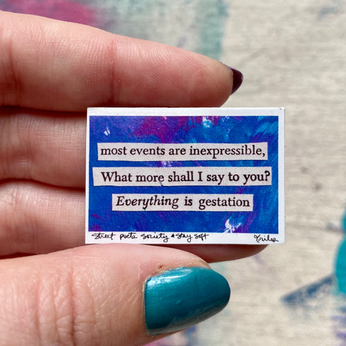 What shall I say? - Mini stickers