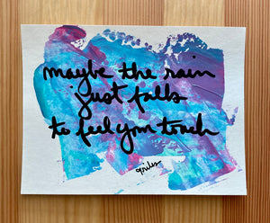 maybe the rain - paper painting - 3/6