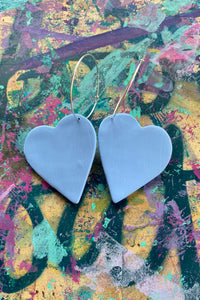 Large heart hoop statement earrings