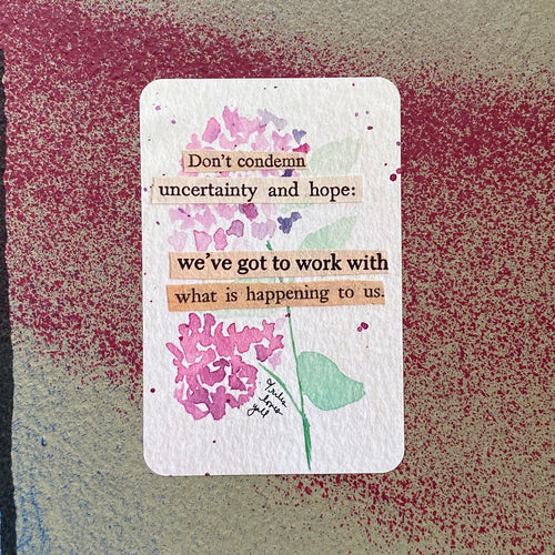 uncertainty and hope - art sticker