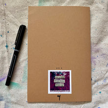 Load image into Gallery viewer, hand painted notebook - blank - fight hard but stay soft