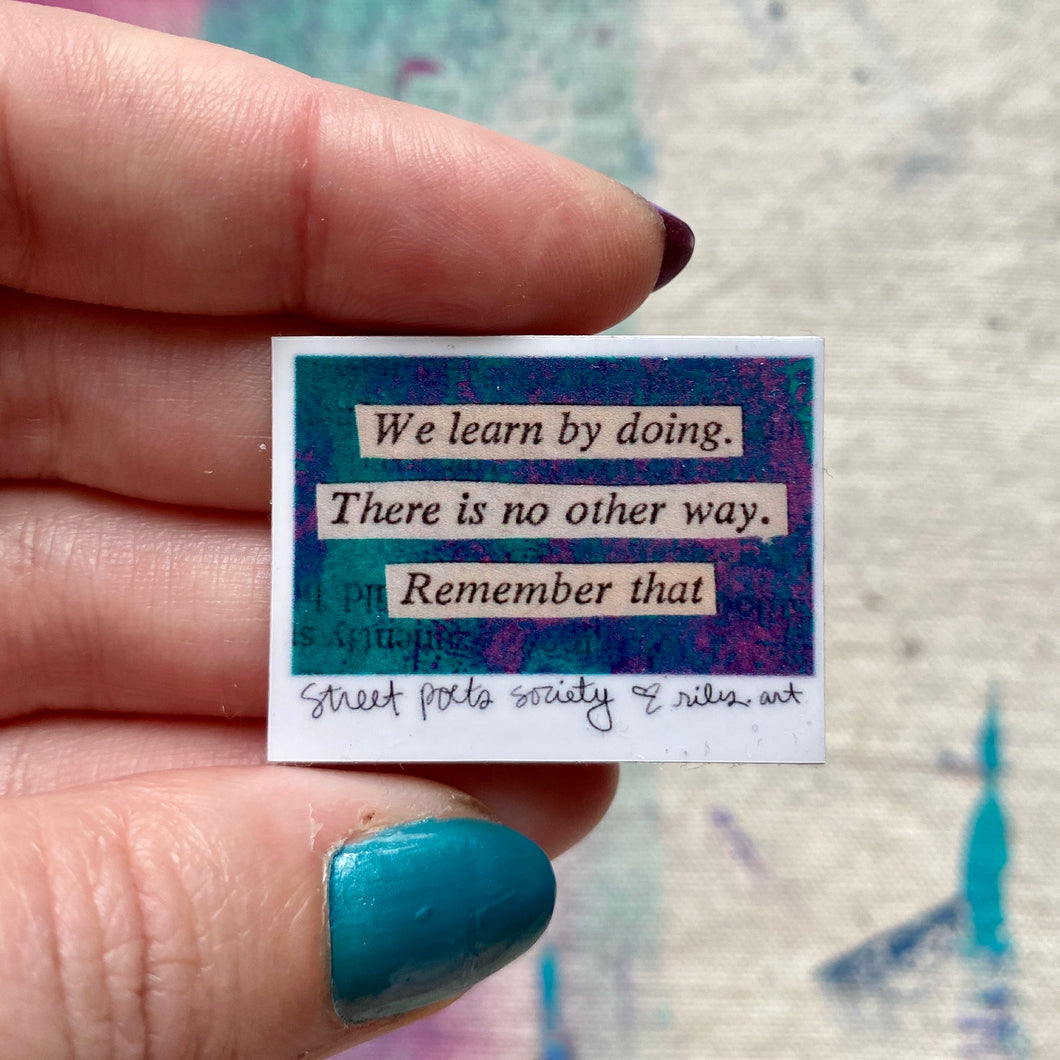 We learn by doing - mini sticker (set of two)