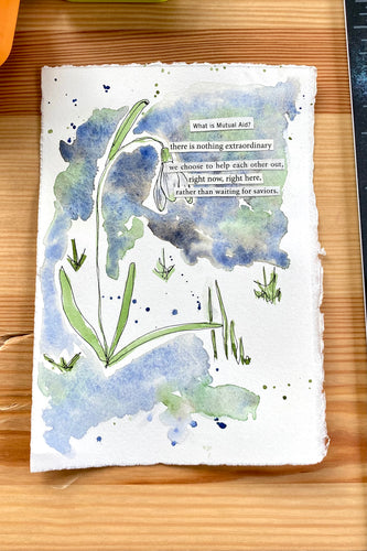 Snowdrop Series - What is Mutual Aid? - Watercolor poem
