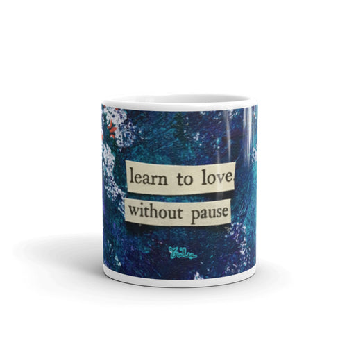 learn to love - ceramic mug