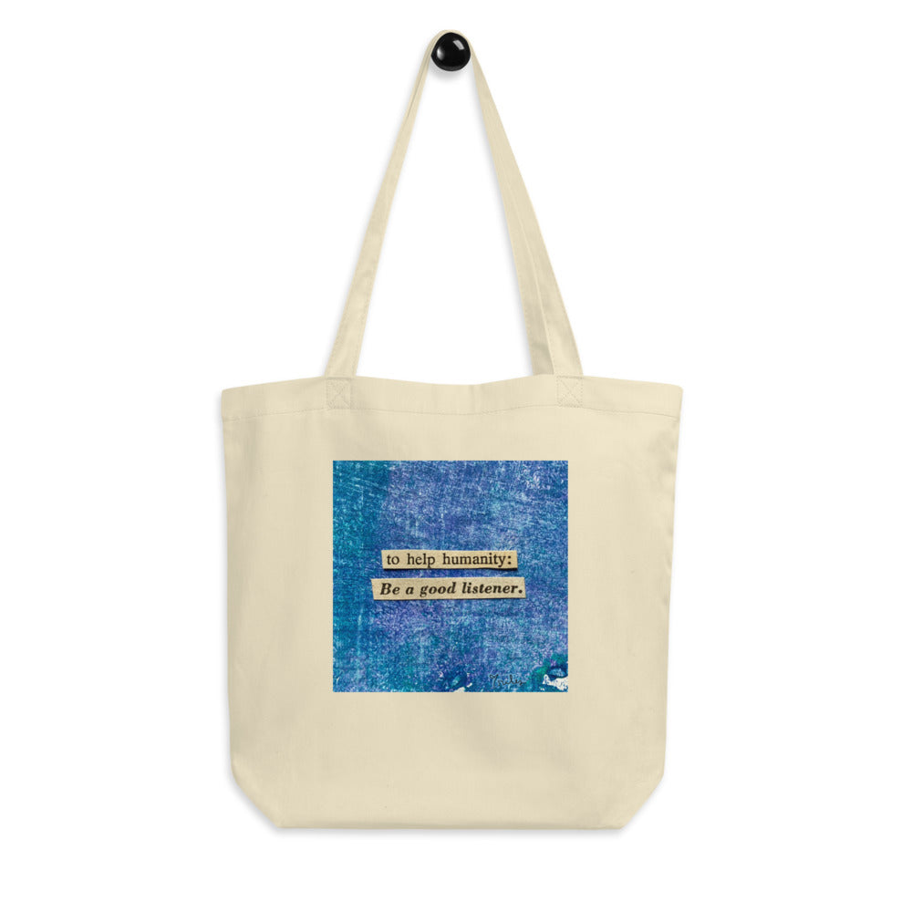 be a good listener - canvas tote