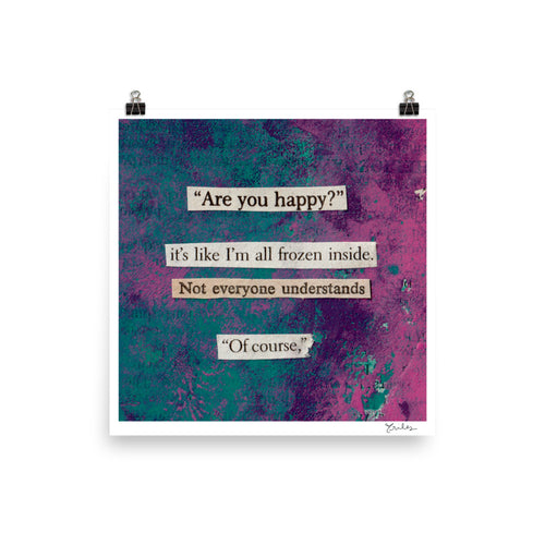 are you happy? - square art print