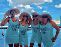 Bachelorette Tank Dresses, Swimsuit Coverups, Beach Coverups, Bachelorette Party, Bridesmaid Tank, Bachelorette Tank