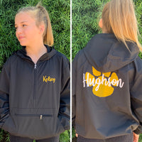 Custom Cheer Jackets, Custom Windbreaker, Lightweight Rain Jacket, Pullover Jacket for Cheerleaders, Cheer Team Rain Jacket