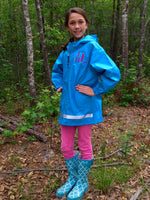 Girls Monogram Rain Jacket - Charles River Rain Jacket - Monogrammed gifts - Girls Rain Jacket - Rain Coat - Rain Jacket - PoshBoutiqueInc