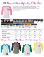 Custom Shirts, Monogrammed Shirt, Raglan Tee, Custom T shirt, Personalized T Shirts, School Spirit T shirt, Group Discounts - PoshBoutiqueInc