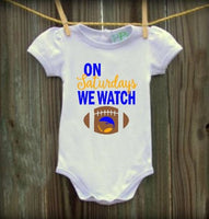 On Saturdays We Watch Football Infant Bodysuit - Football Baby Shirt - Football Infant Bodysuit, Baby girl, Baby Boy - PoshBoutiqueInc