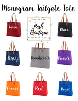 Monogrammed Tote Bag, Personalized Tote Bags, Monogrammed Gifts, Bridesmaid Gifts, Group Discounts, Tailgate Tote Bag - PoshBoutiqueInc