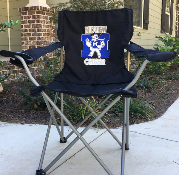 Monogrammed Chair, Coaches Gift, Custom Folding Camp Chair, RV chair, Tailgating Chair, Sports Team Chair, Personalized Chairs - PoshBoutiqueInc