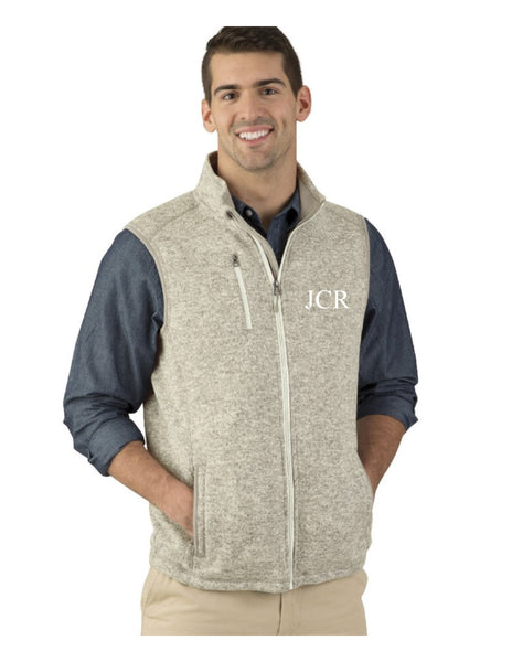 Men's Monogrammed Vest, Guy's Monogrammed Vest, Charles River Apparel Men's Pacific Heathered Vest, His and Hers, Honeymoon, Gift for him - PoshBoutiqueInc