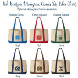 Monogrammed Canvas Tote Bag - Monogram tote bag, Boat tote, Weekend Bag, Bridesmaid gift, Monogrammed Gifts - PoshBoutiqueInc