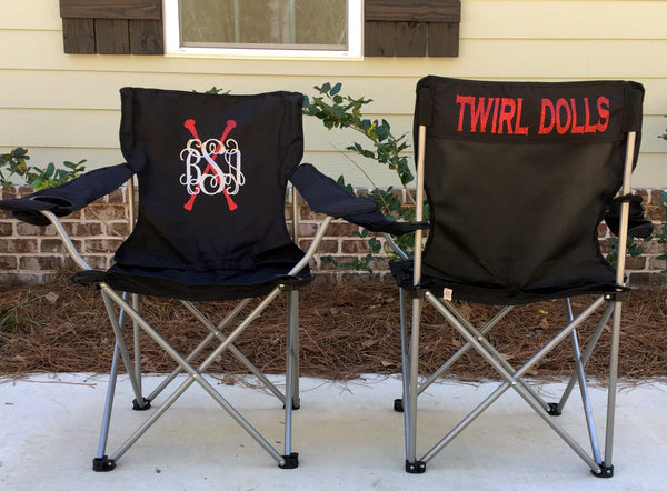 Personalized Chair, Custom Folding Chair, Twirl Competition chair, Tailgating Chair, Dance Team Chair, Personalized Chairs - PoshBoutiqueInc