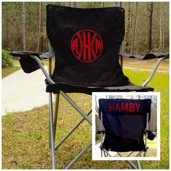 Monogrammed Chair, Camping Chair, Personalized Chair, Custom Folding Chair, Groomsman gifts, Coaches chair - PoshBoutiqueInc