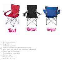 Custom folding chairs, Camping Chair, Personalized Chairs - PoshBoutiqueInc