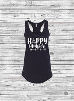 Custom Camp Tank Tops, Camp Shirts, Camper Shirts, Bachelorette Shirts, Vacation Shirts, Camping, Teepee, Road Trip, Camping Trip Shirts - PoshBoutiqueInc