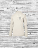 Monogrammed Falmouth Quarter Zip Pullover, Charles River Quarter Zip Pullover, Monogram Pullover, Gifts for Her, Monogrammed Pullover - PoshBoutiqueInc