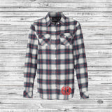 Monogrammed Flannel Shirts, Monogram Buffalo Plaid Flannel Shirts, Plaid Bridesmaid Shirt - PoshBoutiqueInc