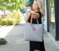 Monogram Tote Bag, Personalized Tote Bag, Monogrammed Gifts, Bridesmaid Gifts, Group Discounts, 8 Color Options, Tailgate Tote Bag - PoshBoutiqueInc