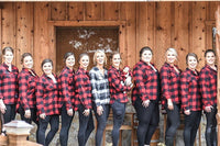 Monogrammed Flannel Shirts, Buffalo Plaid Flannel Shirts, Personalized Bridesmaid Shirts, Flannel Bridesmaid Shirts, Plaid Bridesmaid Shirt - PoshBoutiqueInc